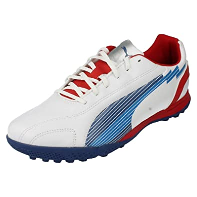 Mens Puma Sporty Look Trainers Evospeed - White Limoges Ribbon Red Leather  - UK 0b47ff0ea