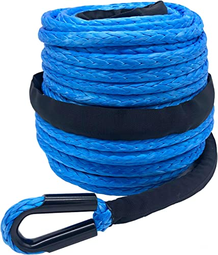 Ucreative 3/8 x 95 20500LBs Synthetic Winch Line Cable Rope