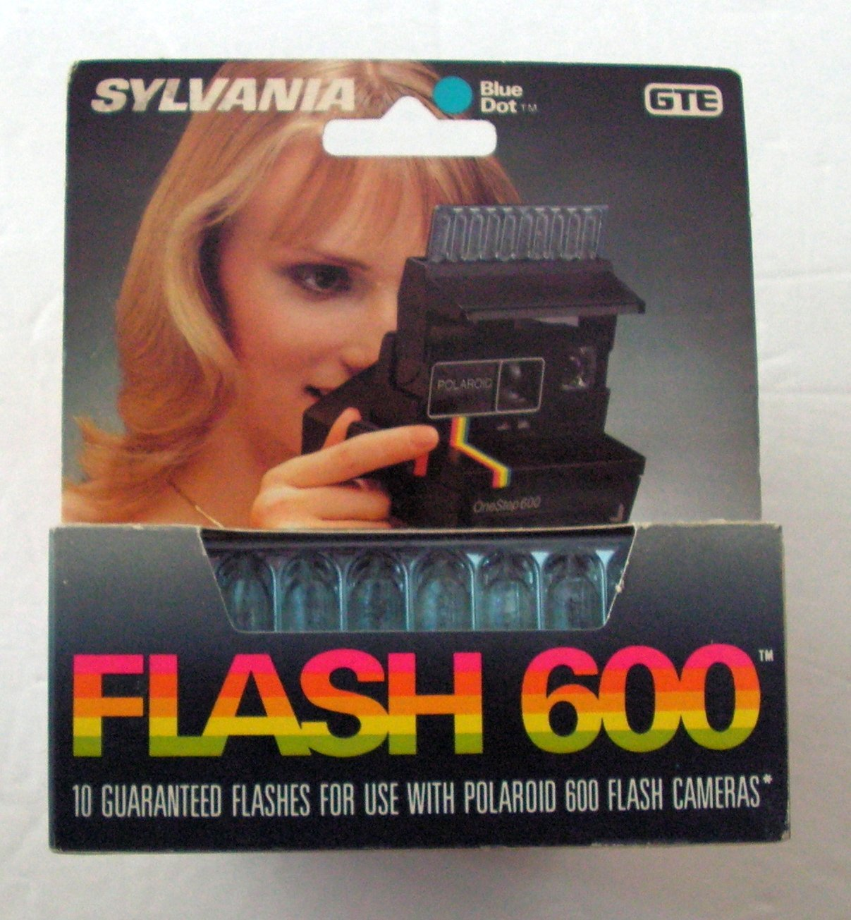 Sylvania Blue Dot Flashbar ''Flash 600'' GTE 10 flashes for Polaroid 600 Cameras by SYLVANIA