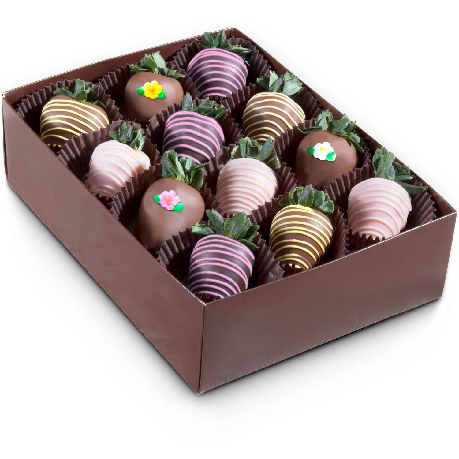 Golden State Fruit 12 Piece Sweet Summer Chocolate Covered Strawberries by Golden State Fruit (Image #2)