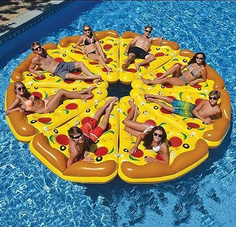 Inflable Porción de Pizza Salón Gigante Pizza Piscina Asiento de ...
