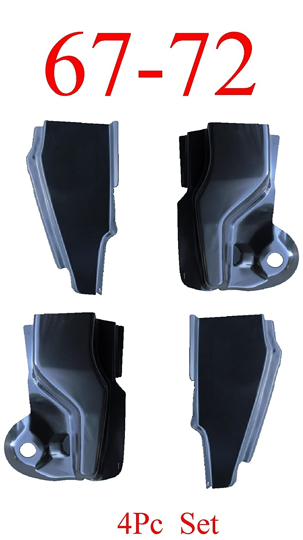 67-72 Chevy Truck 4Pc Front & Rear Door Pillar Kit, GMC Truck AFTERMARKET