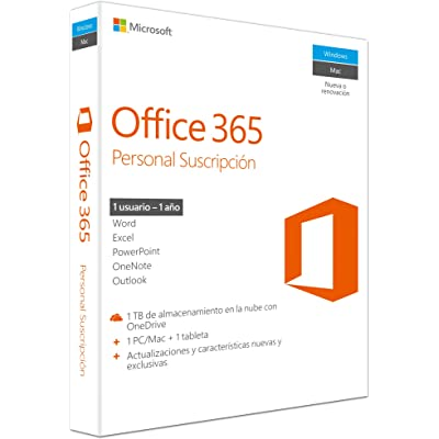 Microsoft - Office 365 Personal 1 PC/Mac + 1 Tableta, 1 año