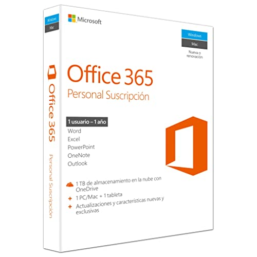 Microsoft - Office 365 Personal 1 PC/Mac + 1 Tableta, 1 año