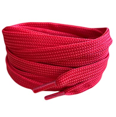 150 cm long 8 mm large Flat Boot Laces Red