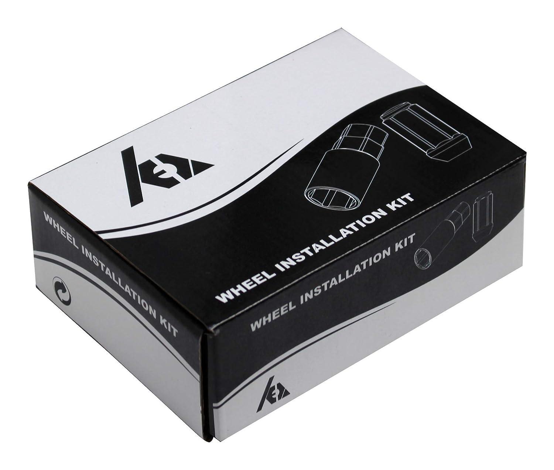 2-PC Acorn Lug Nuts- Total Length 1.4 Conical Seat Chrome Set of 24 pcs 1//2 Wheel Lug Nuts 13//16 Hex