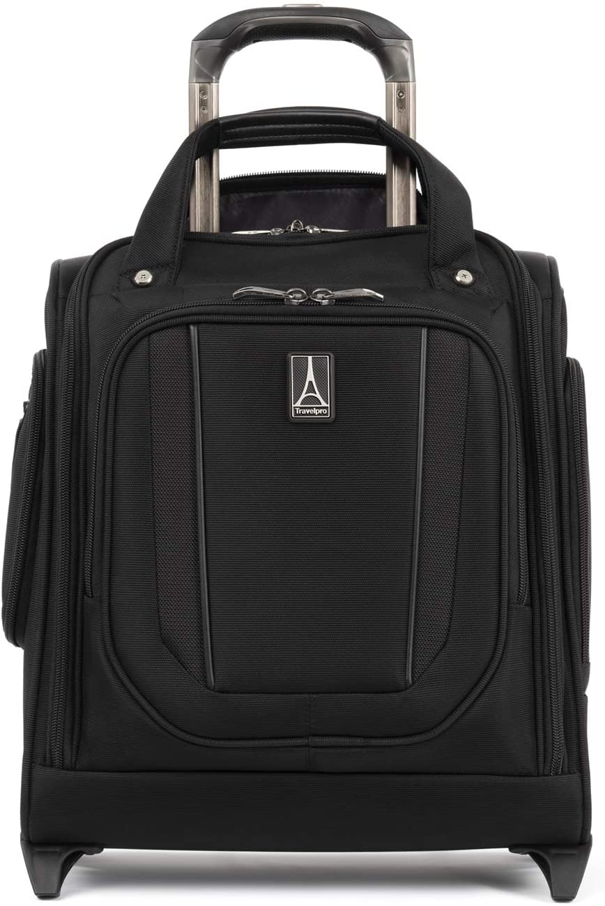 Travelpro Crew Versapack - Rolling Underseat Carry-on Bag, Jet Black, One Size
