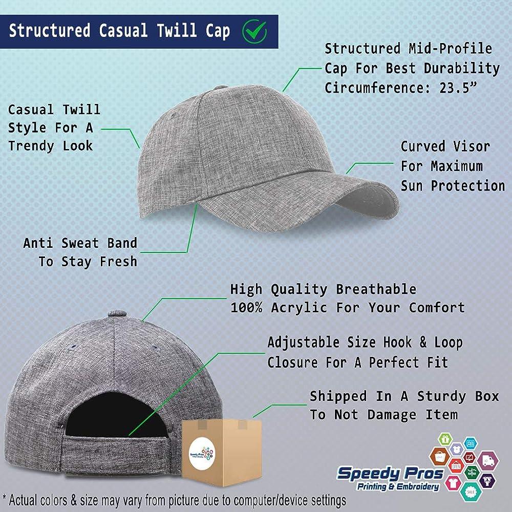 Custom Baseball Cap Number #1 PAPA Embroidery Casual Hats for Men /& Women