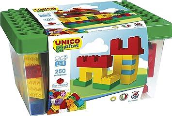 Unico Plus 8525 - Caja con Bloques de construcción (250 Piezas): Amazon.es: Juguetes y juegos