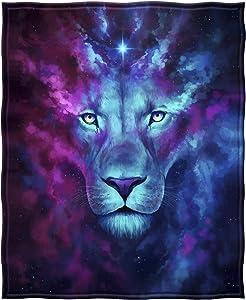 Dawhud Direct Fleece Throw Blanket (Celestial Lion)