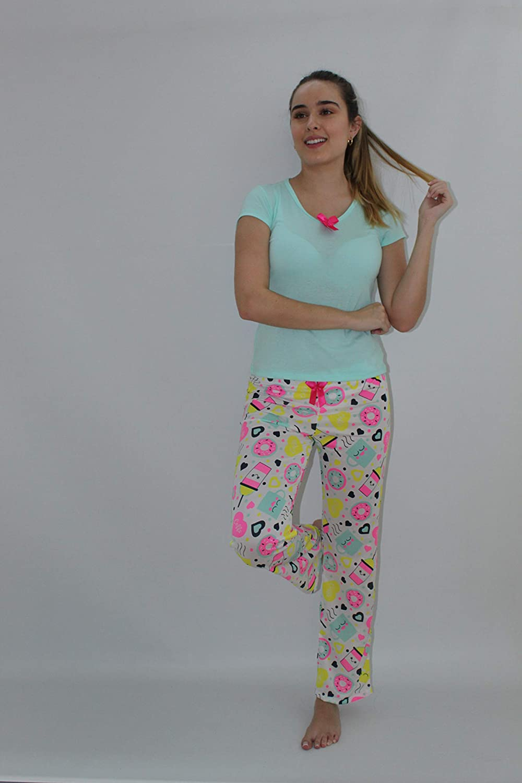MORELLA MÍA MÍA - Pijama de Manga Corta y Pantalones Largos ...