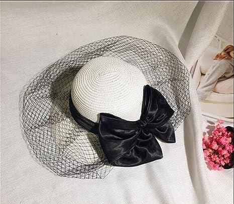 Sucastle cappelli vacanza al mare elegante fiocco Dayan Mao cappello garza  della principessa cappello da sole 8b88109868c3
