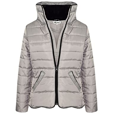 3dbaab8191a6 Amazon.com  A2Z 4 Kids® Girls Jacket Kids Silver Padded Puffer ...