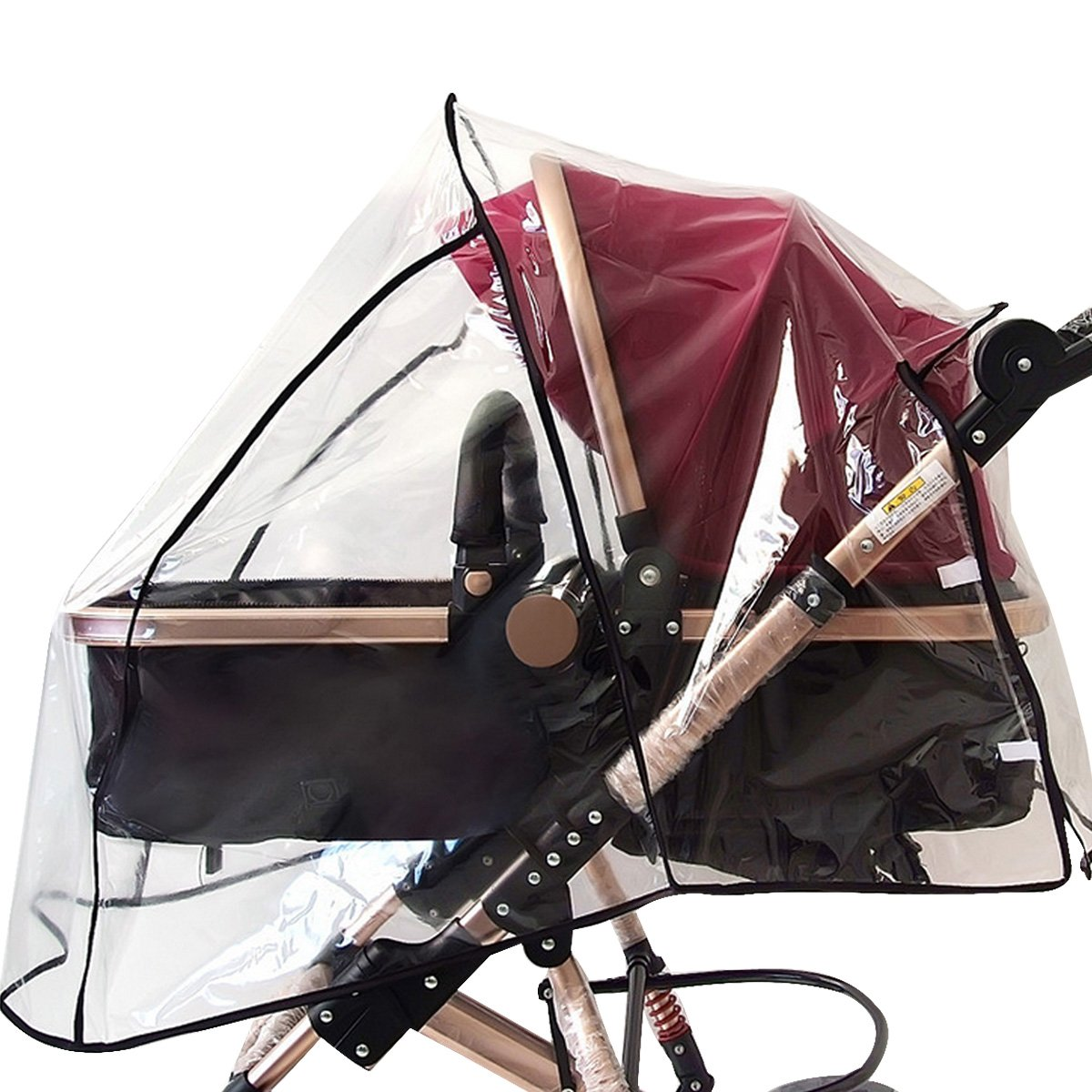 CLARA Universal Baby Stroller Rain Cover Baby Carriage Wind Shield Waterproof Covers(Transparent)