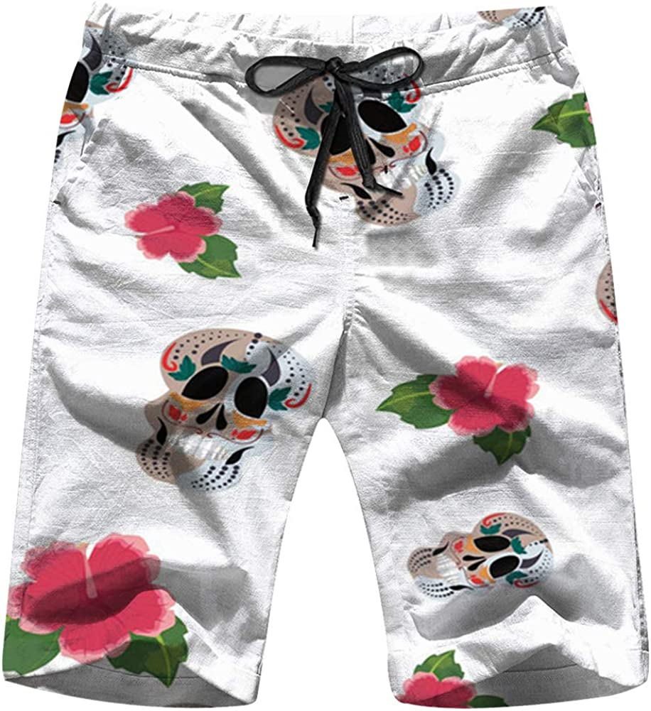Black Cats Green Eyes Different Poses Animals Mens Swimwear Surfing Beach Quick Dry Board Shorts with Pockets