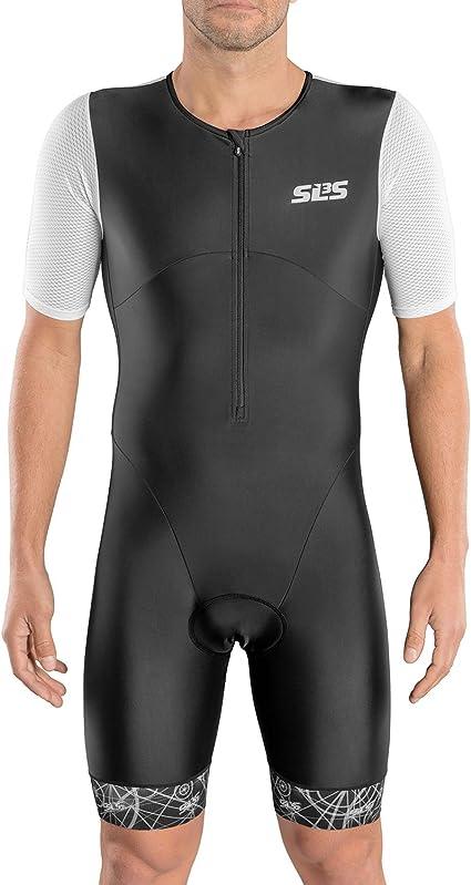 Comfortable Grip Bands /& Chamois Sparx Men`s Elite Aerosuit Triathlon Suit with Sleeves Full Front Zipper Mens Short Sleeve Aero Tri Suit Swim Bike Run