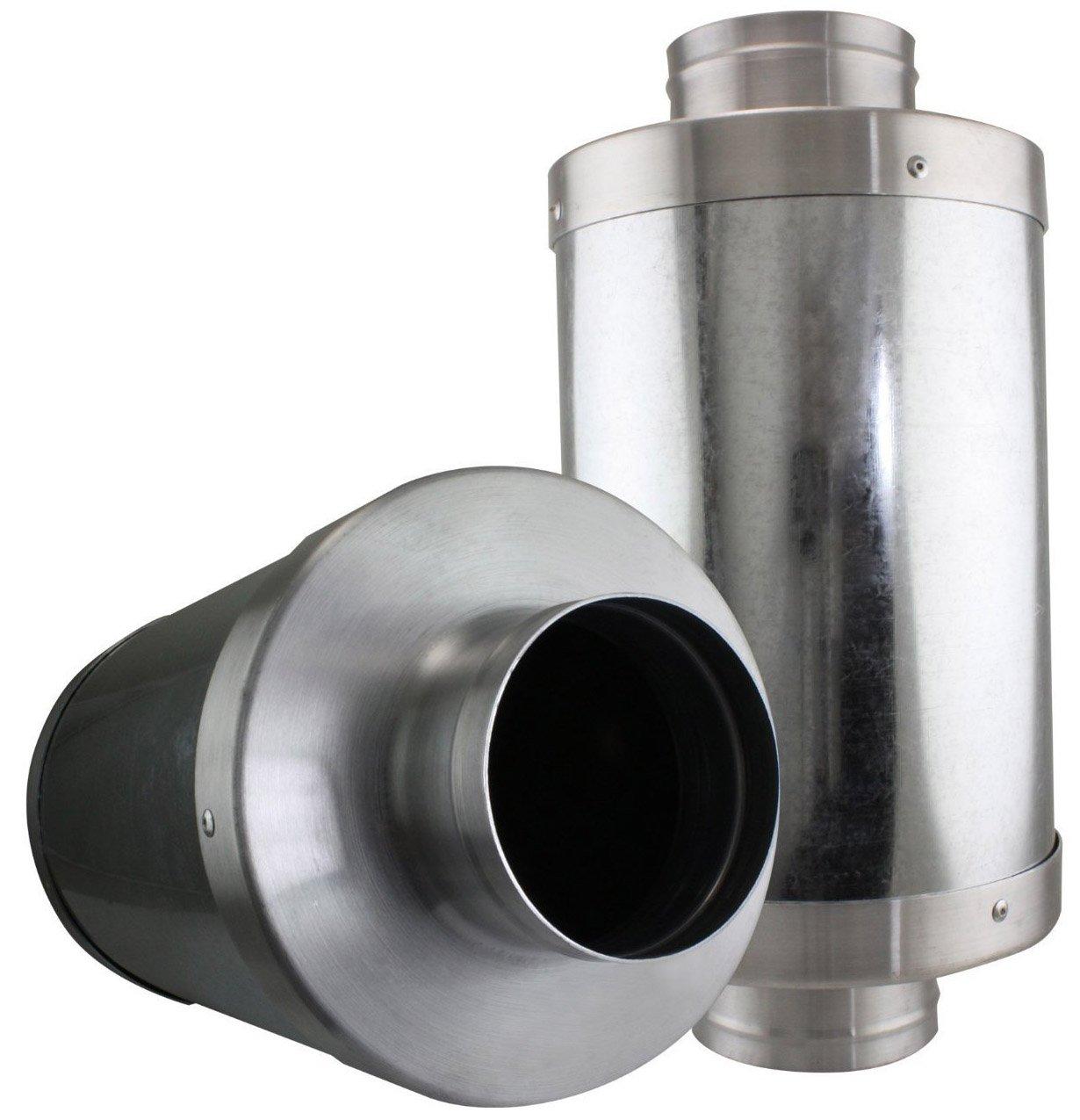 VenTech VT FS-6 FS6 Muffler Noise Reducer Silencer System for Inline Duct Fan, 6''