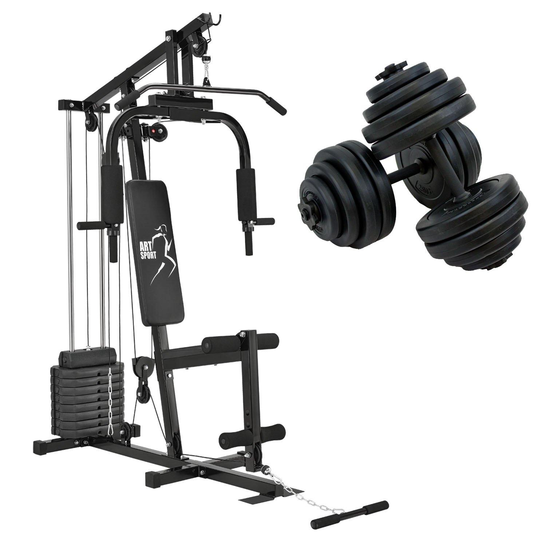 Kraftstation Profi Gym 2000 & Kurzhantel 30kg Set 2 in 1