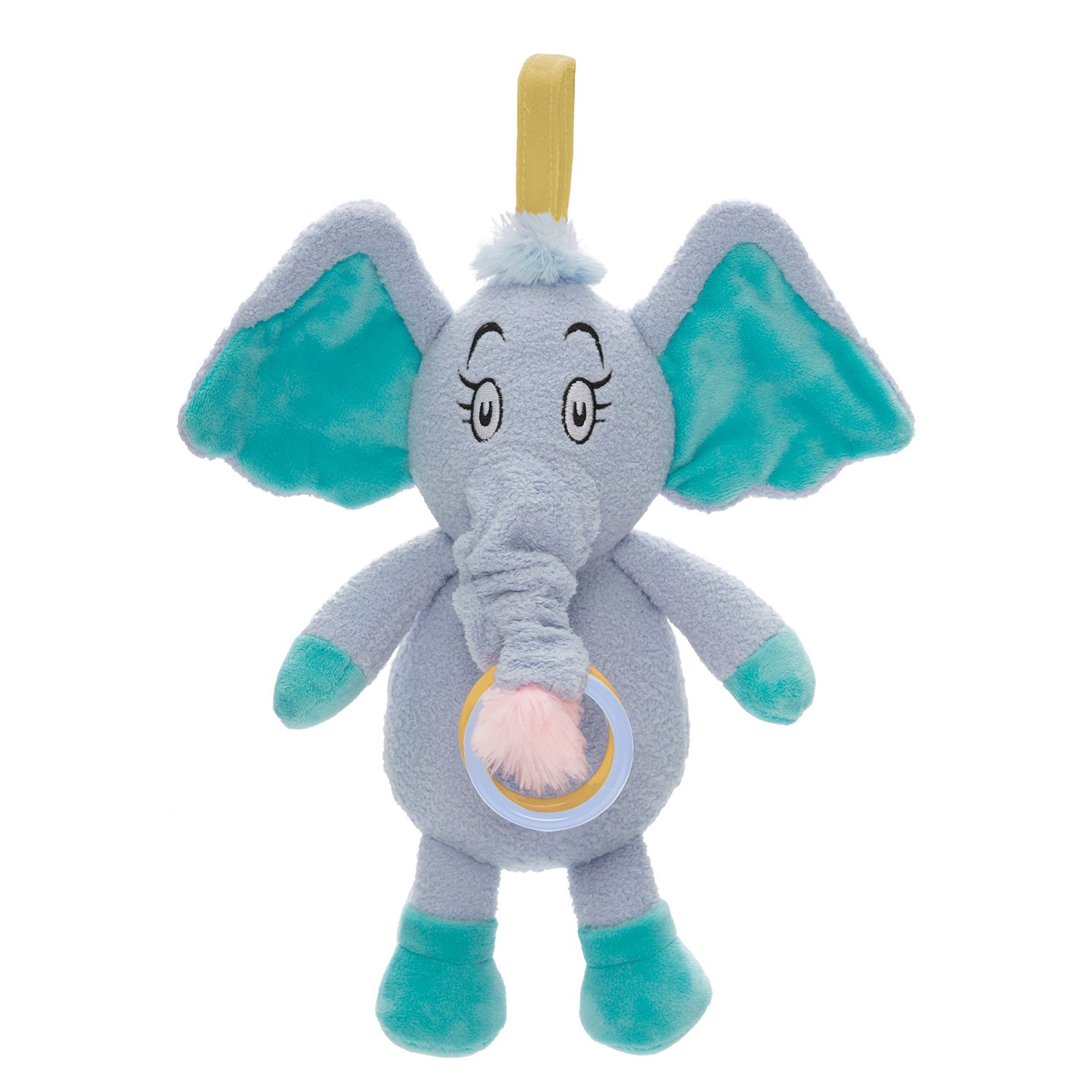 Seuss Horton Pull Musical Travel Toy /& Teether 153520 Manhattan Toy Dr