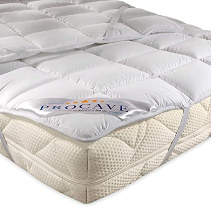 PROCAVE Micro Confort Protector colchón en Varios tamaños, Made in Germany, Funda colchón de Microfibra y poliéster, Soft Touch, Válido para Camas de ...