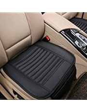 Big Ant Car Seat Cushion, 1PC Breathable Car Interior Seat Cover Cushion Pad Mat for Auto Supplies Office Chair with PU Leather(Black)