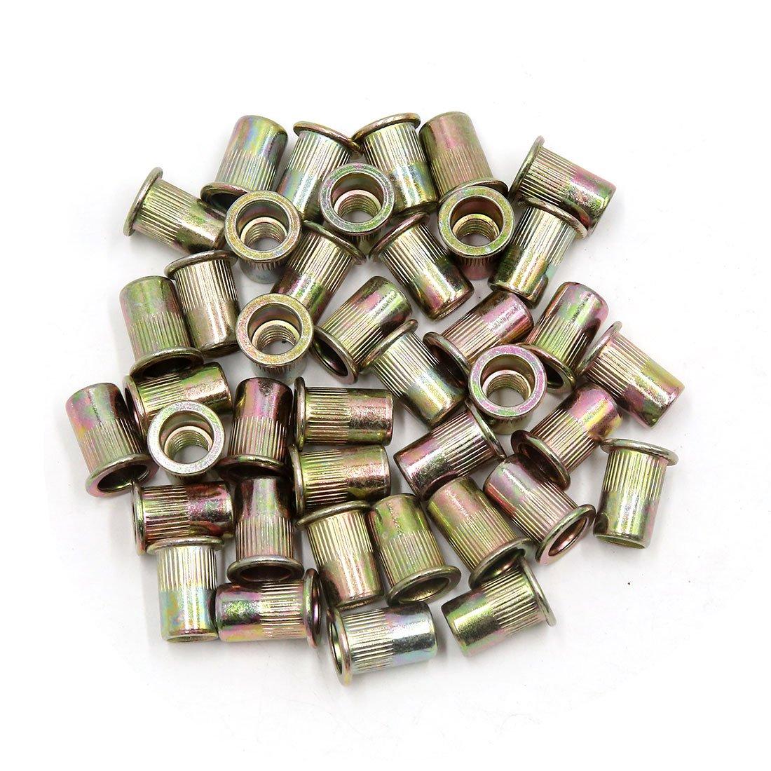 uxcell/® 150 Pcs 5//16-18 Bronze Tone Thread Rivet Nut Insert Nutserts for Vehicle
