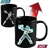 Dragon Ball Z DBZ Vegeta Super Saiyan Blue Heat Reactive Color Changing Cup Ceramic Coffee Mug Gift