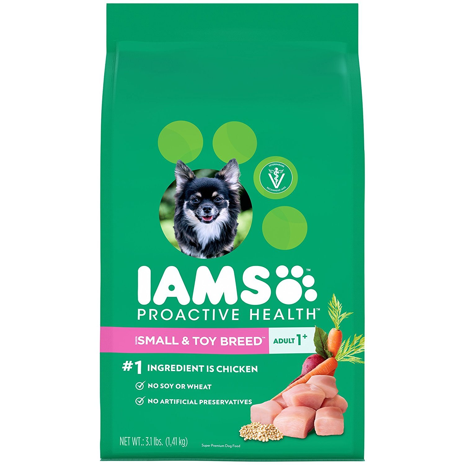 (3.1lbs - Pack of 5), IAMS Proactive Health Dry Dog Food, Small & Toy Breed