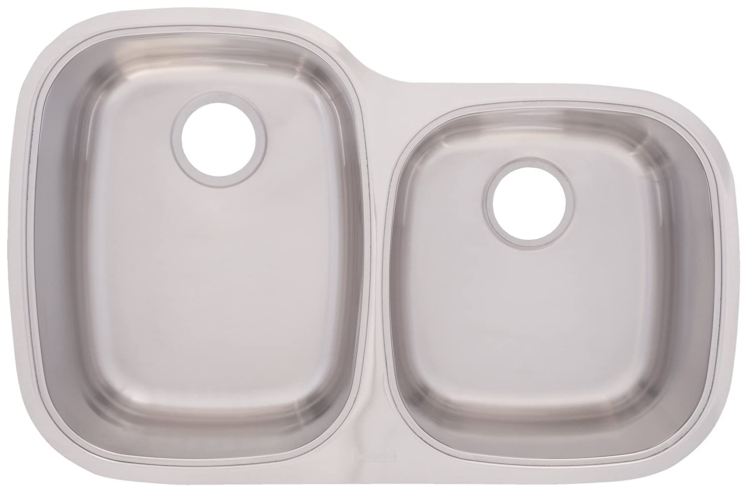 franke uosk900 18 offset double bowl stainless steel 32x18 5in  undermount sink     amazon com franke uosk900 18 offset double bowl stainless steel 32x18 5in      rh   amazon com