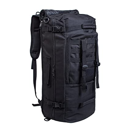 884a22ce41e3 50L Multi-Functional Waterproof Military Tactical Molle Assault Backpack  Sports Rucksack Holdall Bags Weekend Travel Bag Duffle Hand Luggage   Amazon.co.uk  ...