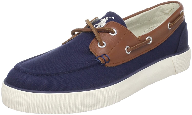 Boat Shoe Navy/Tan/Cream 11.5