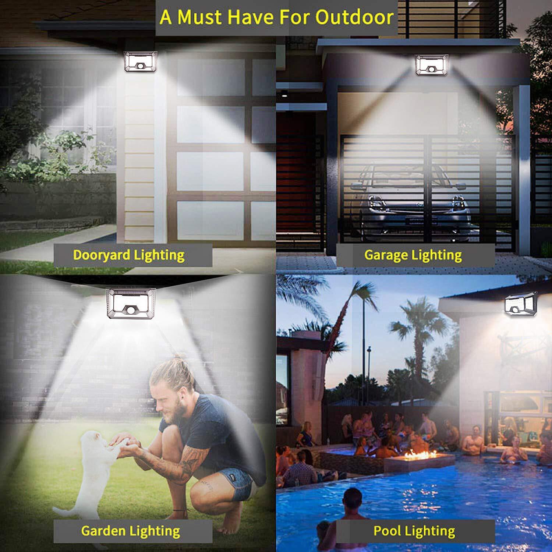 Solar Motion Sensor Light Outdoor,2-PACK New Upgrade 66 LED Solar Lights Outdoor,Motion Solar Lights Outdoor Waterproof,Led Solar Lights Outdoor Motion Sensor,Super Bright Solar Sensor Lights (66 LED) by LECLSTAR (Image #6)