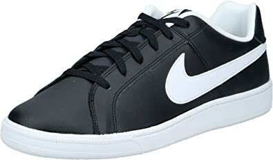 Gama de anchura Peregrinación  Amazon.com | Nike Court Royale Trainers Men Black/White Low Top Trainers  Shoes | Shoes