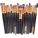NEJLSD Eye Makeup Brushes Set 20, Eyeliner Eyeshadow Blending Brush, Wool Make Up Brush Set,Powder Face Foundation…