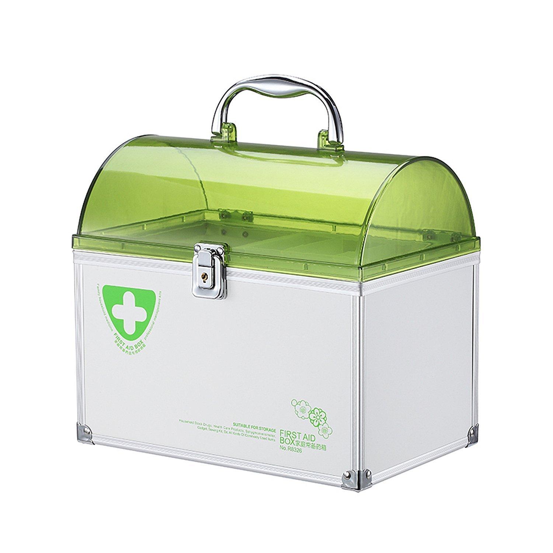 Popowbe Portable Medicine Storage Box Organizer Medicine Lock Box Green-big by Popowbe