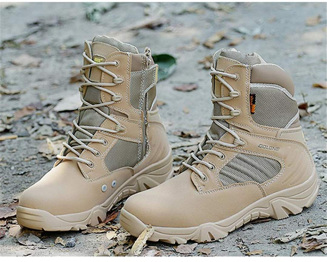 6c388fe56a0d4 Amazon.com: Outdoor Desert Hiking Shoes Men Military Combat Boots ...
