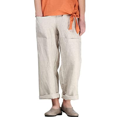 Mordenmiss Women's Casual Cotton Linen Pant w/Unique Pockets: Clothing