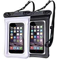2-Pack Egchi Universal Waterproof Cell Phone Pouch (Black/White)