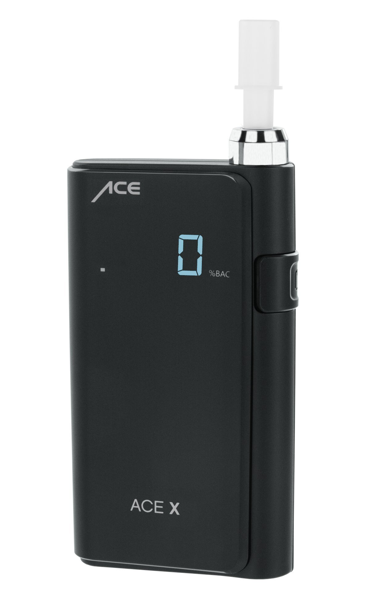 ACE X Portable Breathalyzer Professional Grade Fuel Cell with Digital Display and 5 Mouthpieces