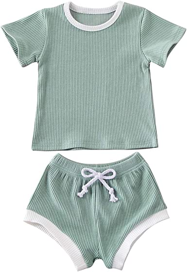 Newborn Baby Boys Bodysuit Short-Sleeve Onesie Life Begins After Coffee Print Outfit Autumn Pajamas