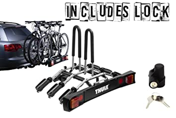 Thule 9503 Fahrradträger Anhängerkupplung Montiert Mit 957 Verschluss Für 3 Fahrräder