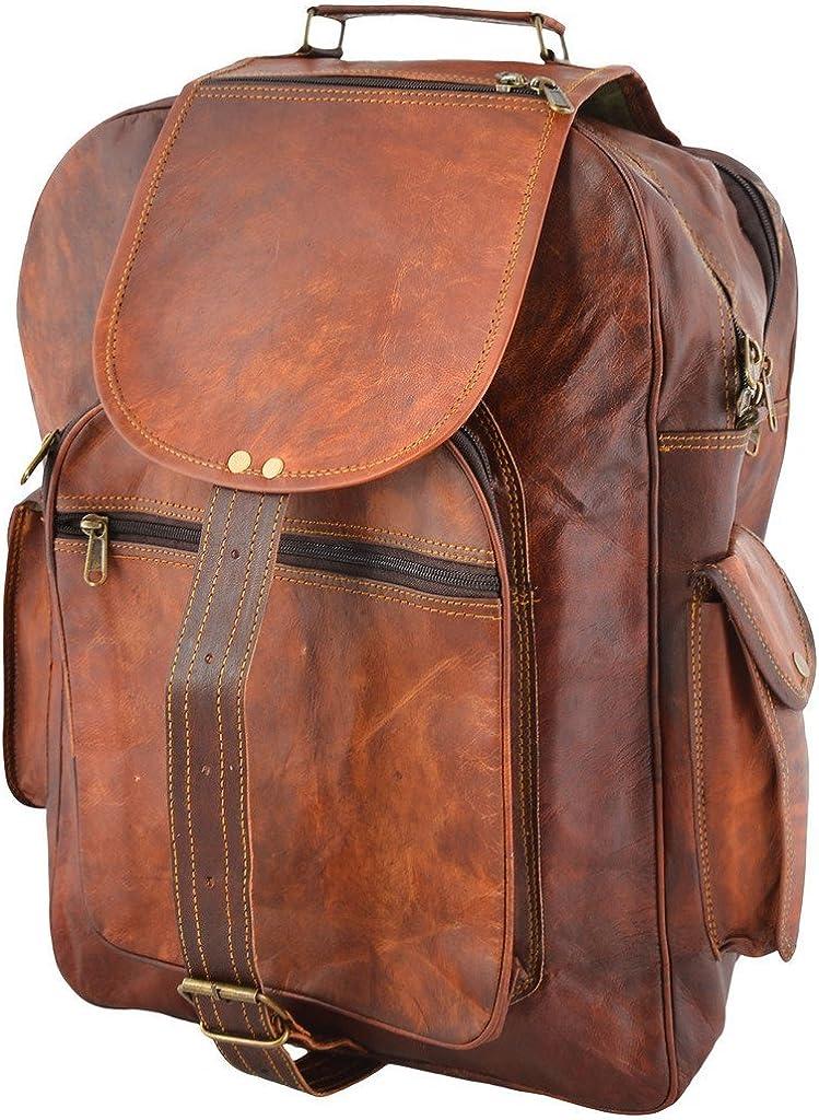 BROCODE Leather Village Goat Vintage Leather Backpack Rucksack 13177 Inches
