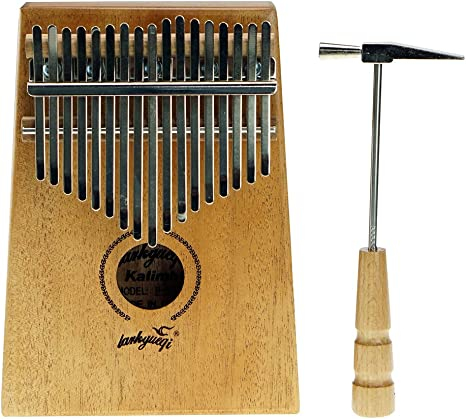 Caja de resonancia kalimba de 17 teclas, instrumento musical ...