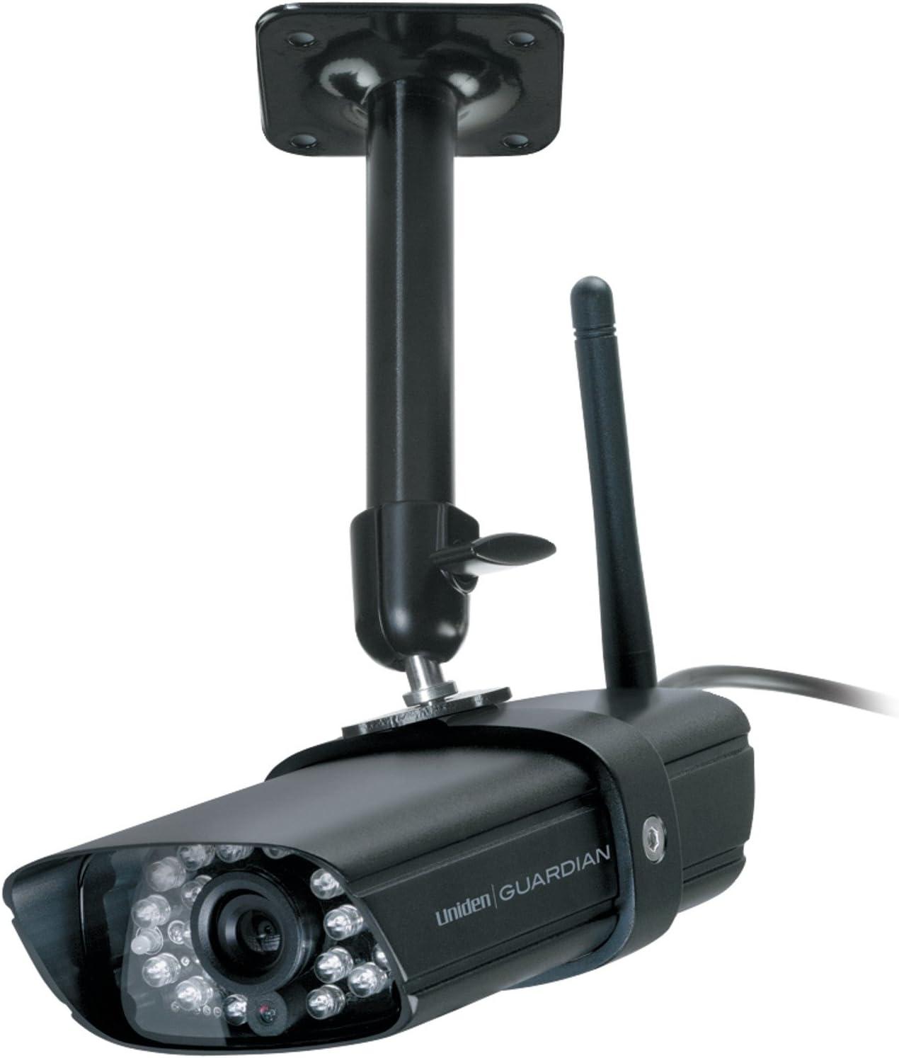 Black Uniden Wireless Weather Proof Video Surveillance Camera GC45