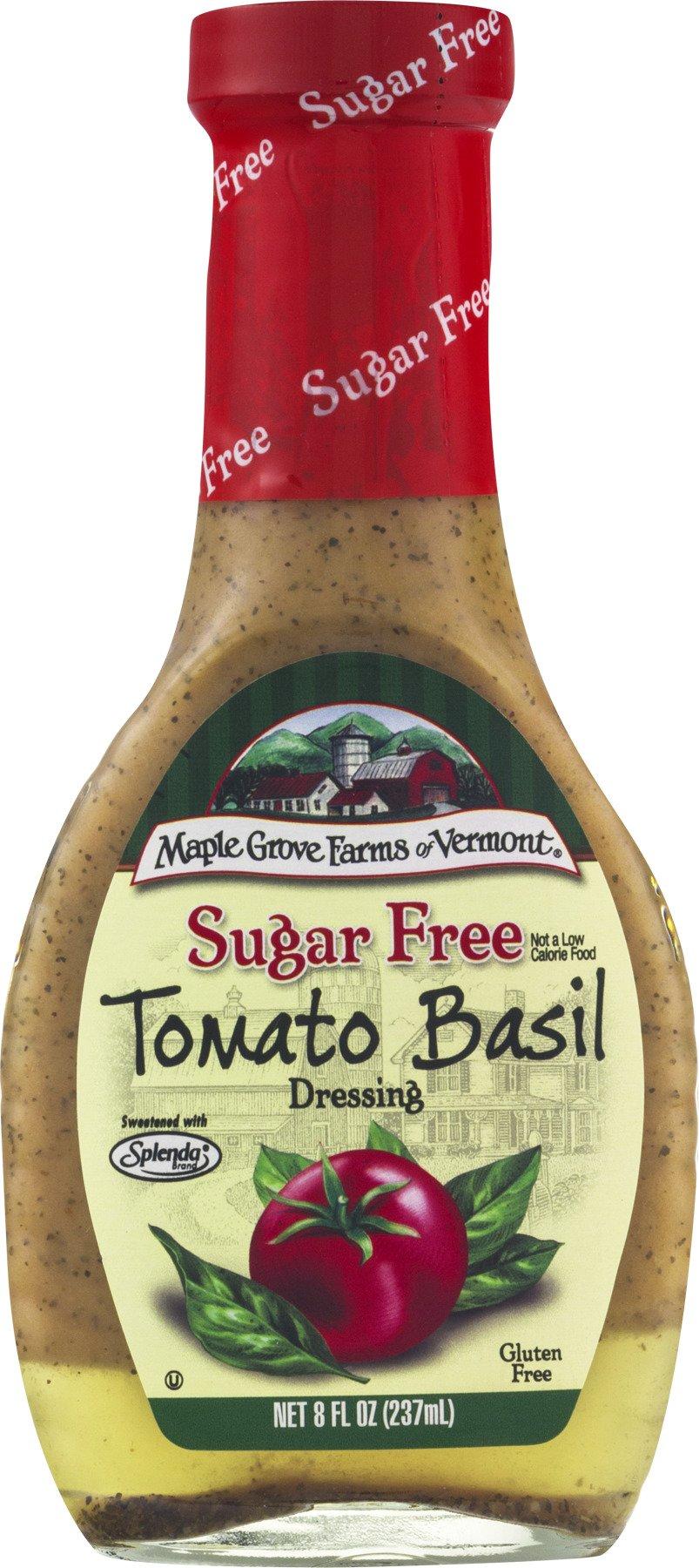 Maple Grove Farms Sugar Free Salad Dressing, Tomato Basil, 8 Ounce