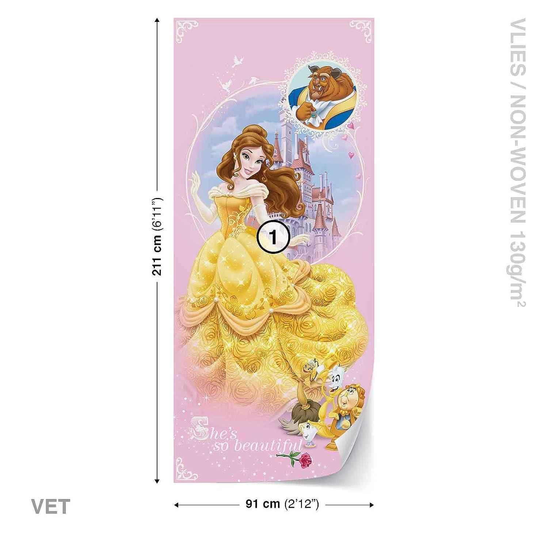 Disney Princesses Beauty Beast Wall Mural Photo Wallpaper Room Décor ...