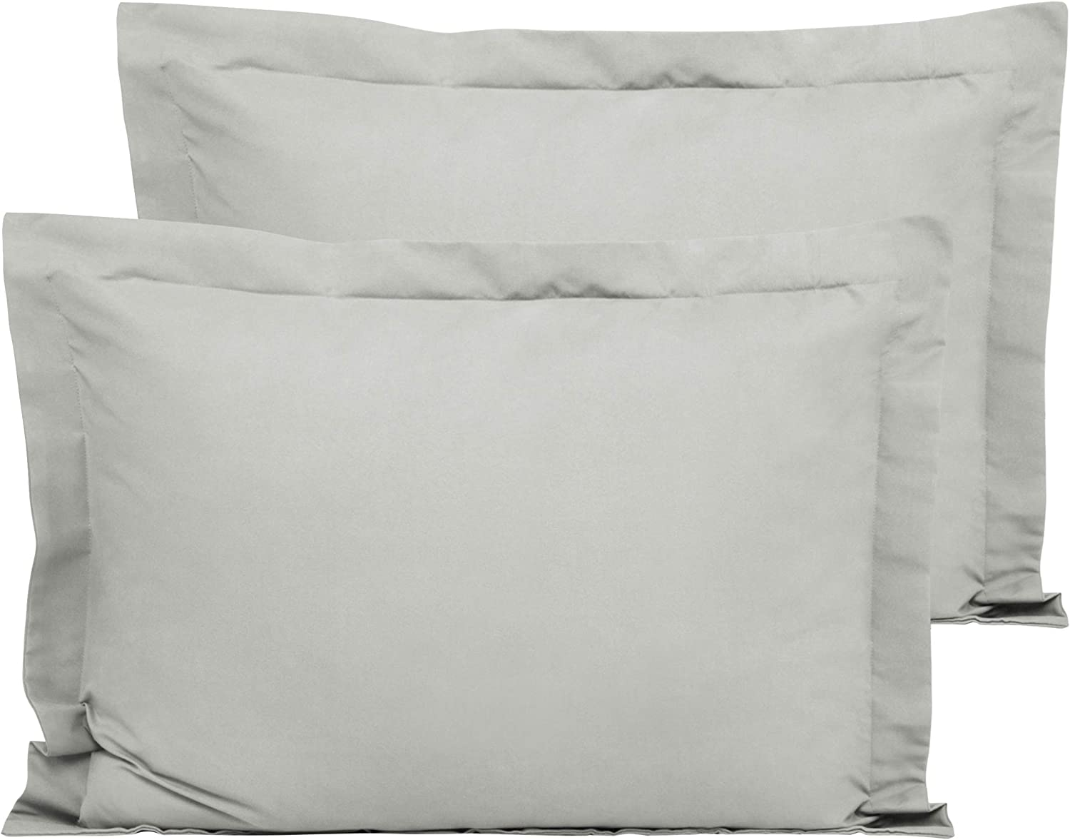 Ultra Soft and Cozy FLXXIE European Shams Euro 26 x 26 Coffee Pack of 2 Microfiber Throw Pillow Covers