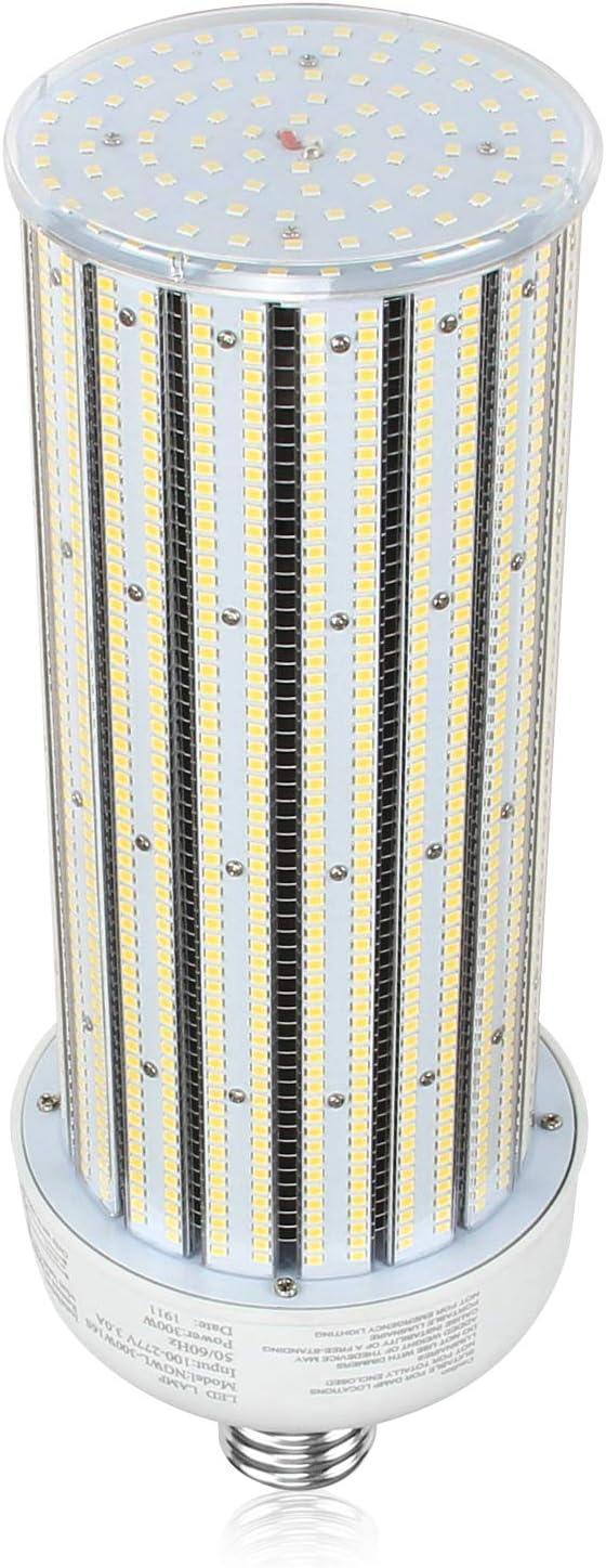 LED Corn Light Bulb 50W 6543LM 5000K Replace 175Watt Metal Halide Corn LED Bulbs AC90-277V E39 Mogul Base for Garage Warehouse Barn Area Lighting UL GLC Listed