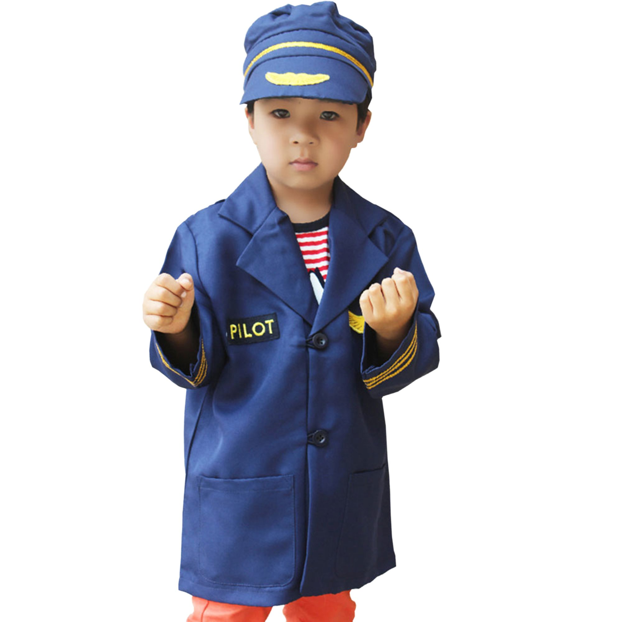 GradPlaza Children Airline Pilot Costume Navy Blue