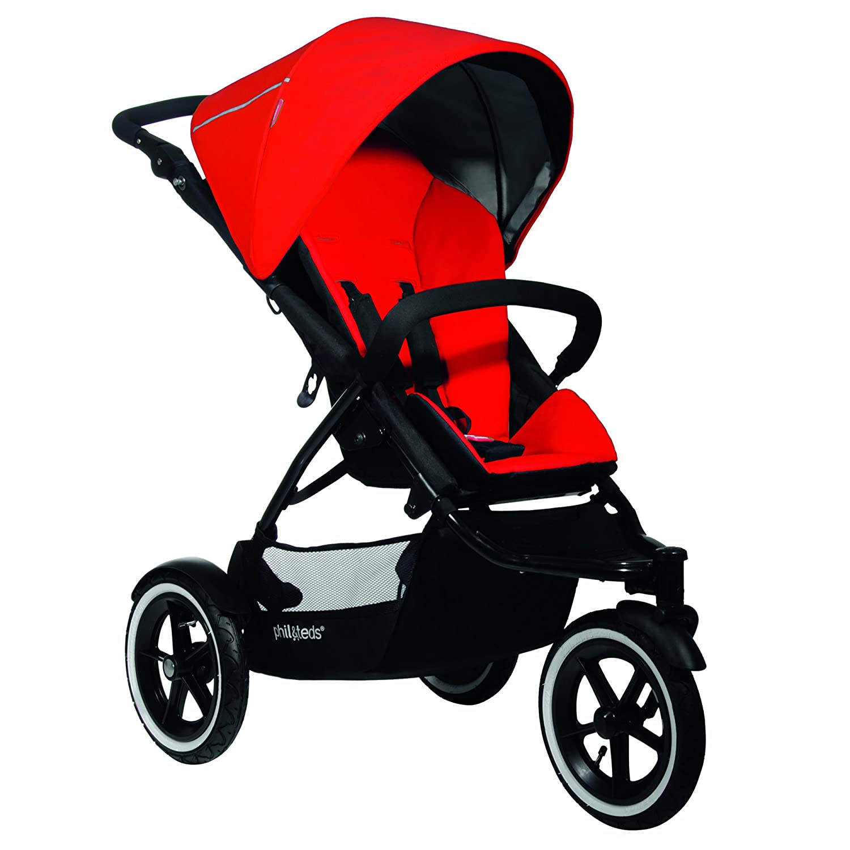 phil teds Navigator Buggy Stroller, Cherry Discontinued by Manufacturer Discontinued by Manufacturer